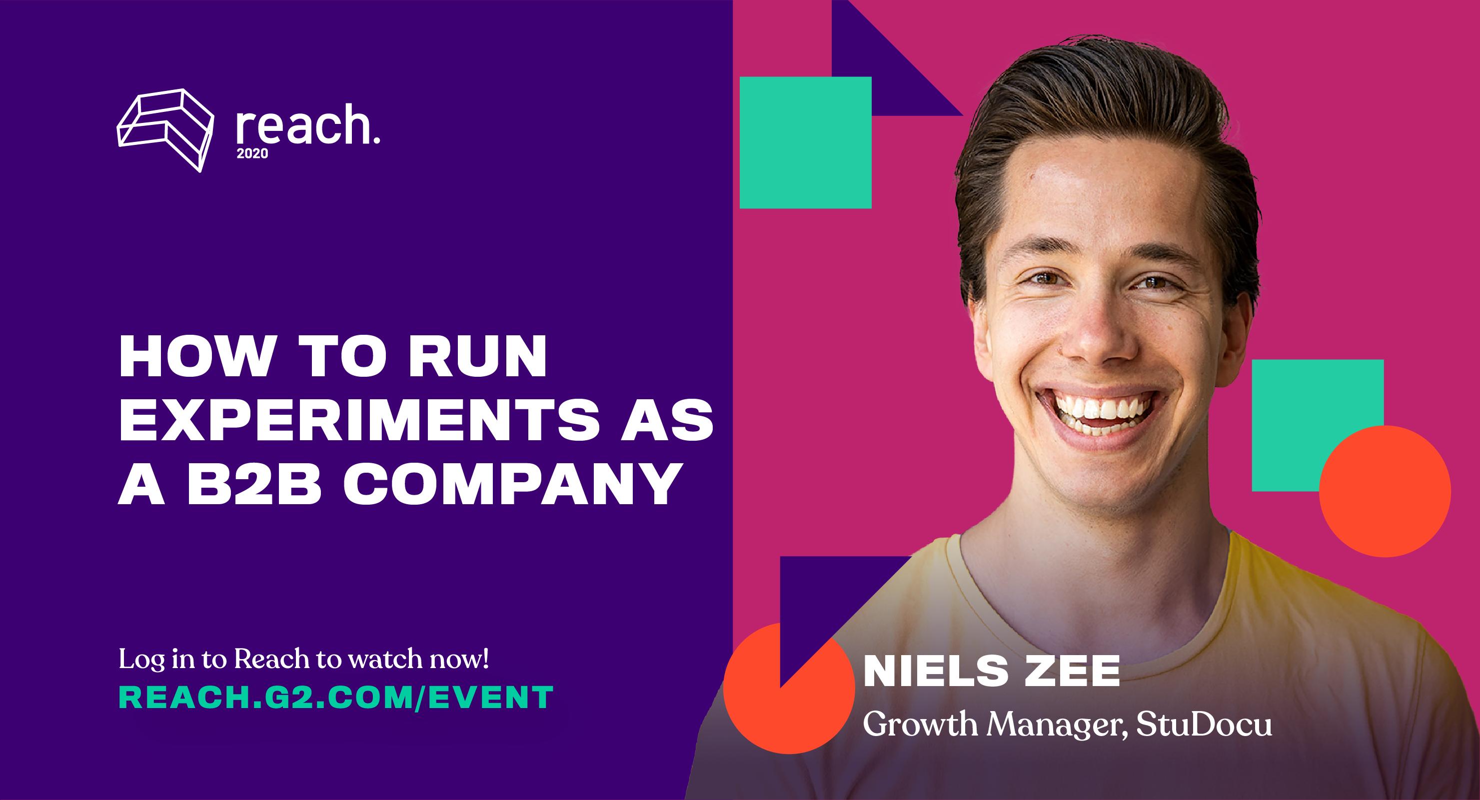 [Webinar] How to run experiments as a B2B company – G2 Reach 2020